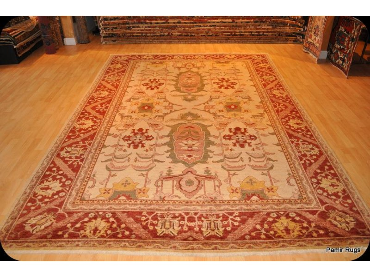 9 X 12 Vegetable Dye Elegant Persian Rug Handmade Hand