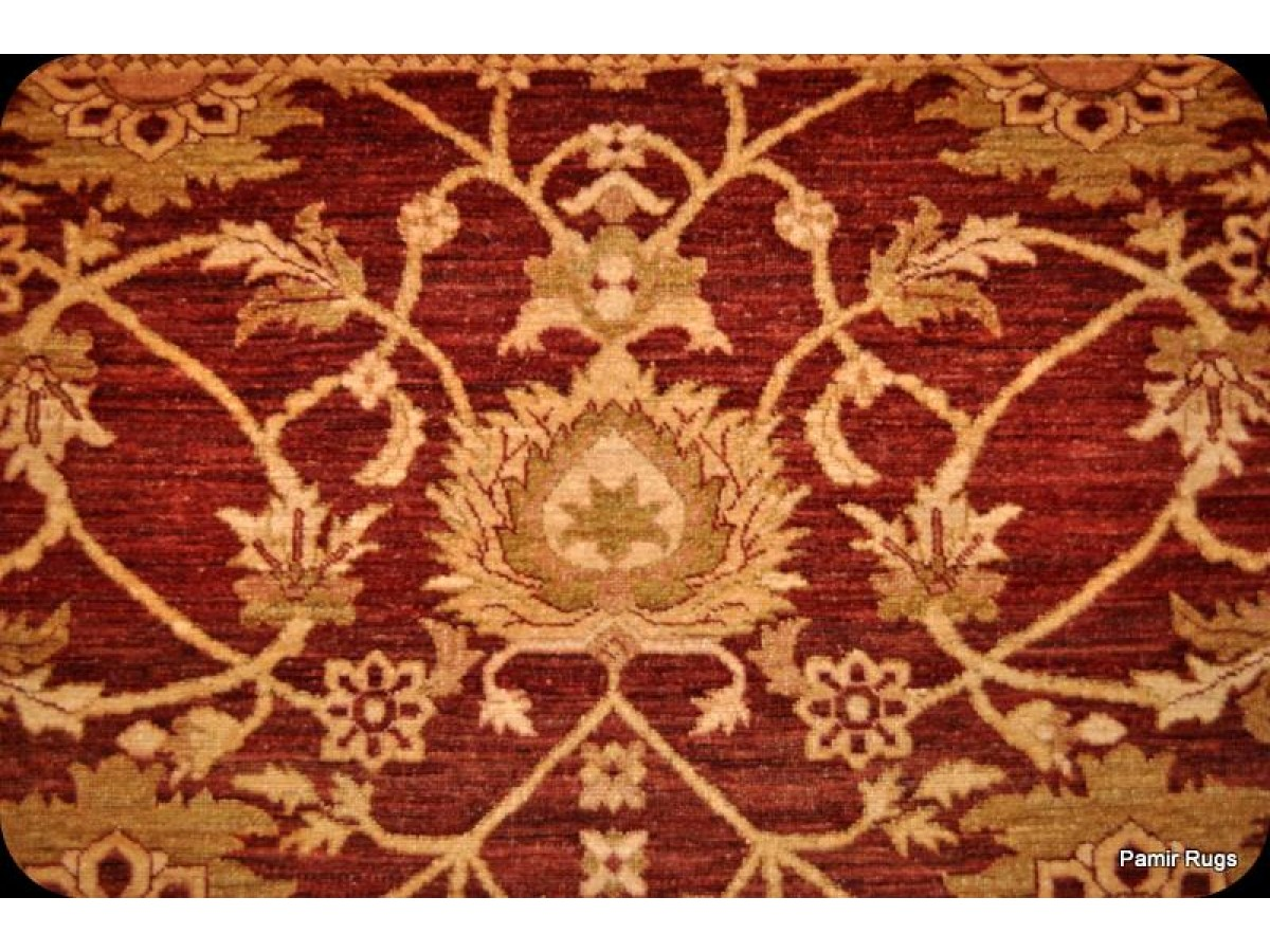 Mix Of Cherry Red And Gold Persian Rug 9 X 12 Vegetable Dyed