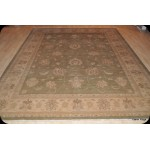 Light green Colors Muted 9' X 12' Peshawar Wool Rug