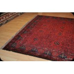 Large 9' X 12' Handmade Hand-knotted natural Wool Turkmen Rug