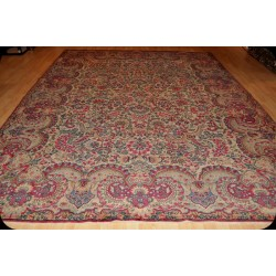 Authentic Persian Floral Kerman Rug