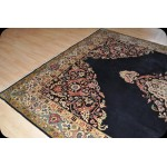 Traditional Handmade Royal Blue Wool Area Antique Persian Tabriz Rug