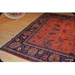 Orange Red Large Room Size Handmade Rug Antique Persian Mahal