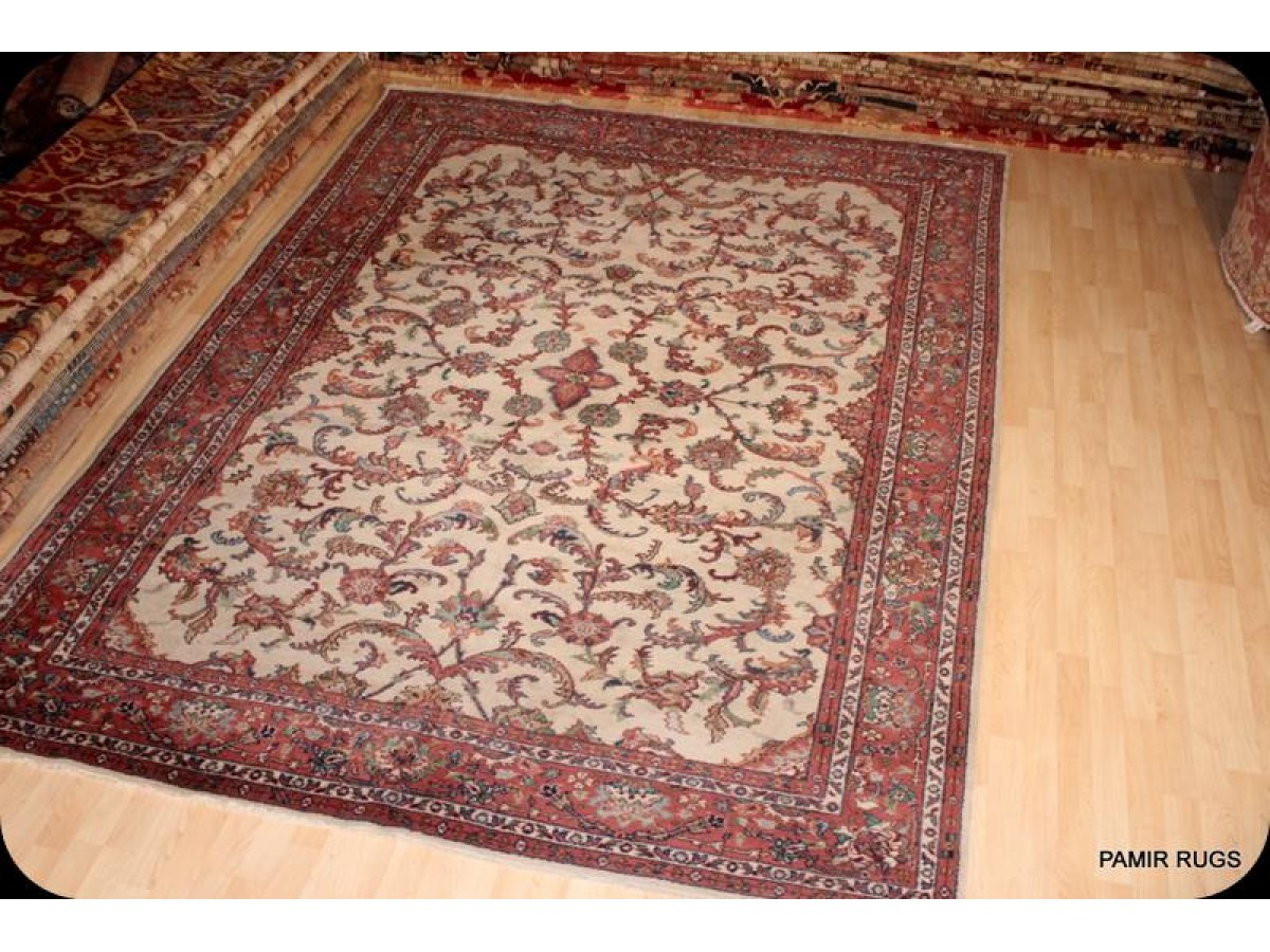 9 X 12 Traditional Persian Beige Background Hand Made