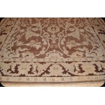 Genuine Handmade 9' X 12' Eggplant Brown Color Persian Knotted Rug