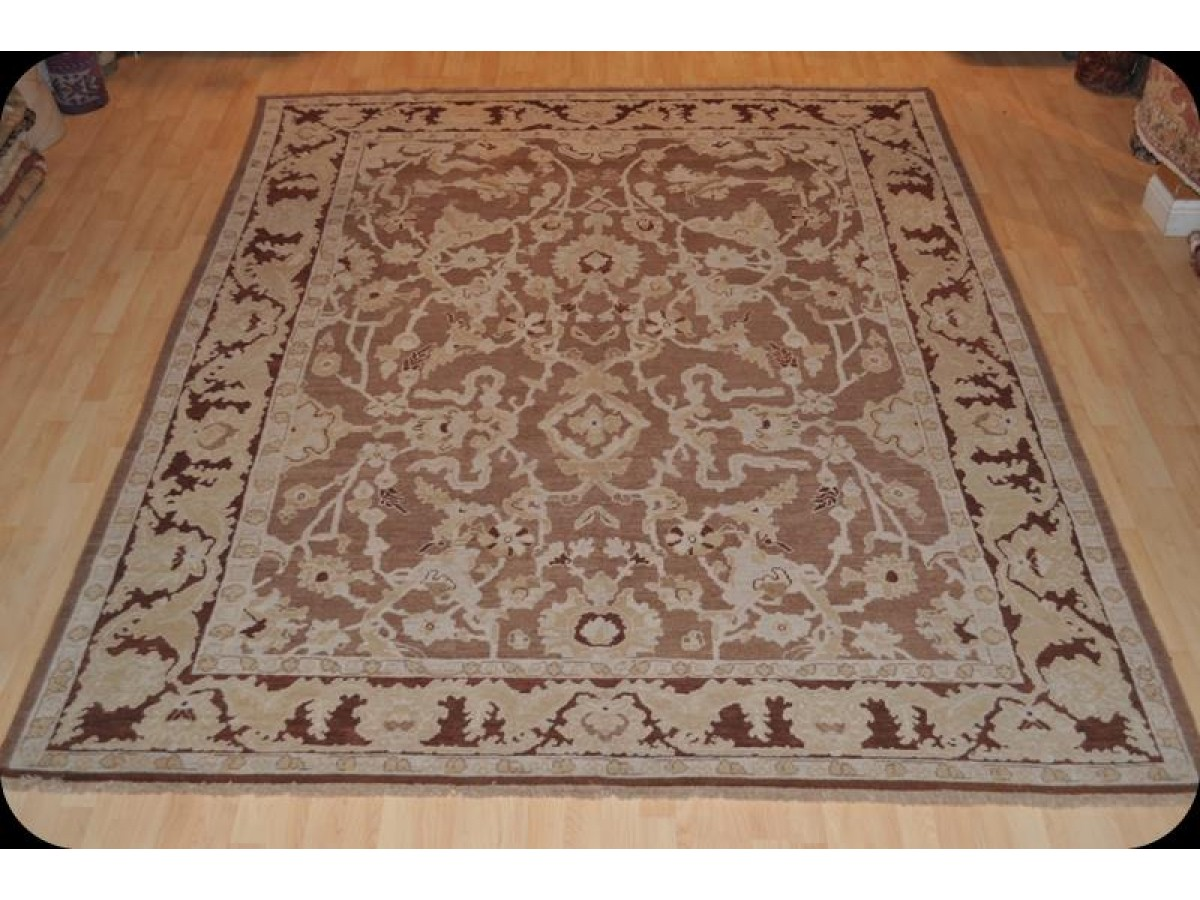 9 X 12 Genuine Handmade Persian Rug Natural Wool Knotted