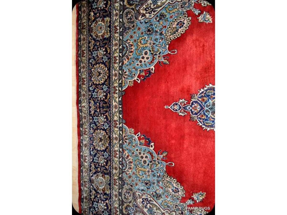 Fine Quality Persian Handmade Knotted Red Background Wool