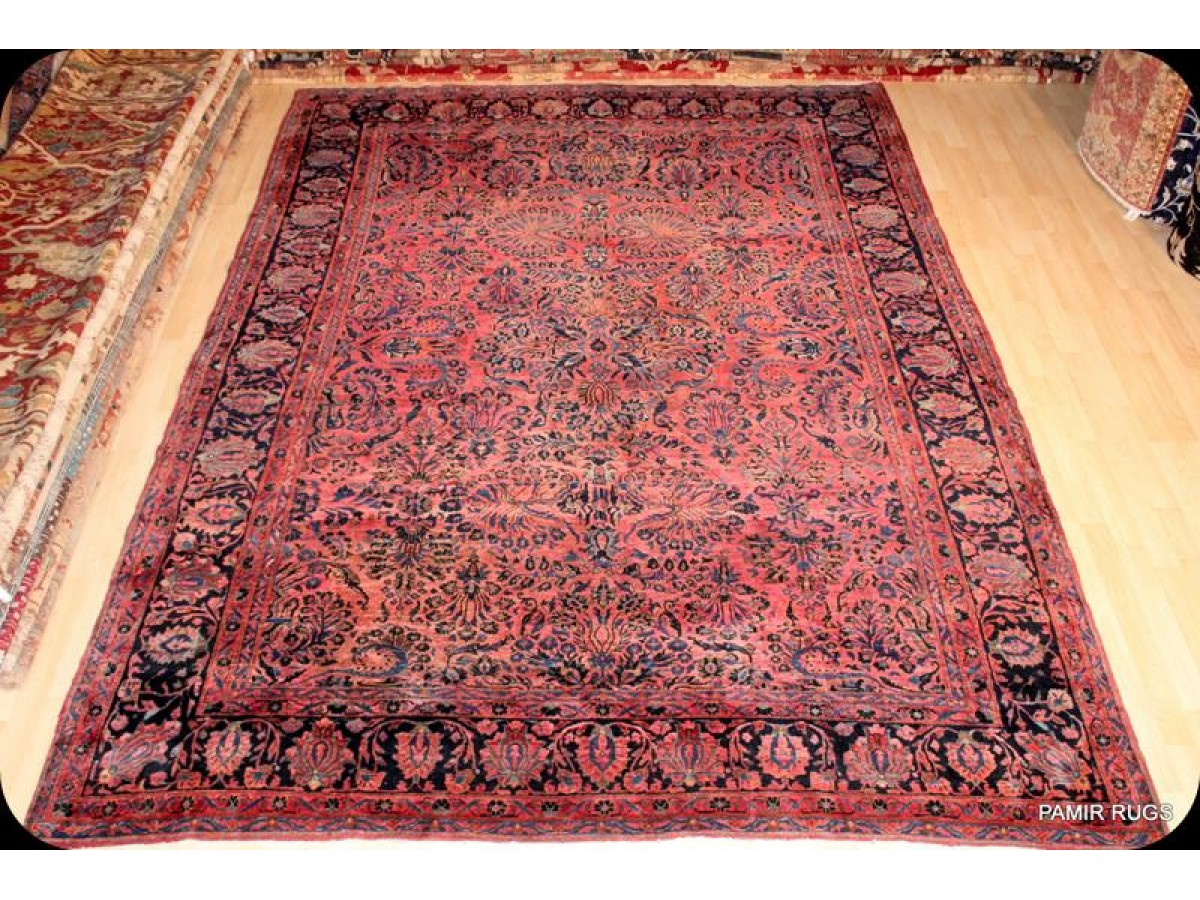 Circa 1920 S Vintage Elegant Persian Sarouk Rug With Red
